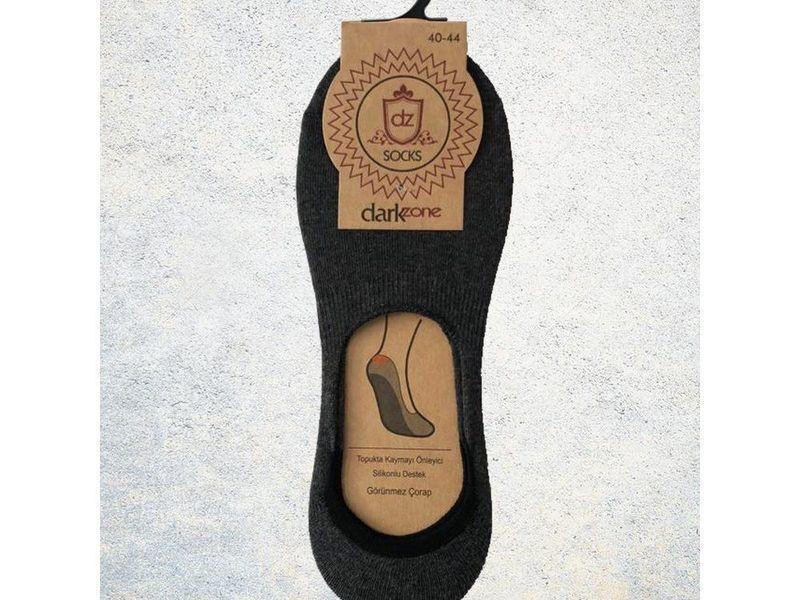 Носки-невидимки мужские темно-серые DARKZONE DZCP0011