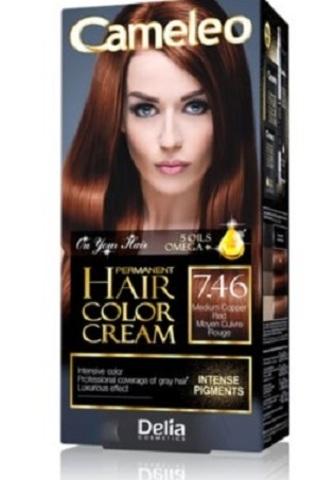 Delia Cosmetics Cameleo Крем-краска для волос тон 7.46 средний медно-рыжий