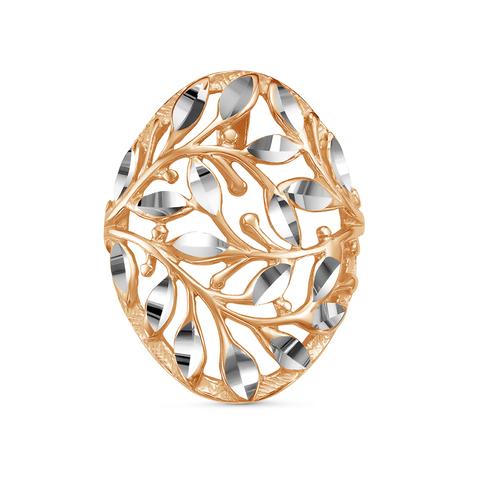 Кулон с алмазной гранью и позолотой