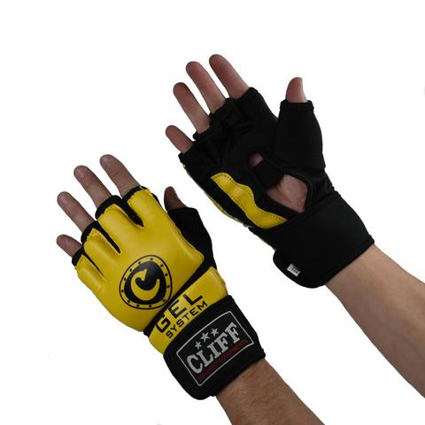 Перчатки ММА Cliff желто-черные
