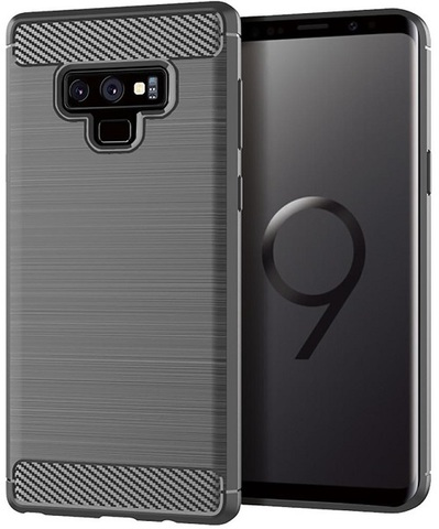 Чехол Samsung Galaxy Note 9 цвет Gray (серый), серия Carbon, Caseport