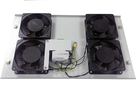 Вентиляторный блок c термостатом (4 вентилятора), БВ-4Т: купить оптом в Москве по низкой цене