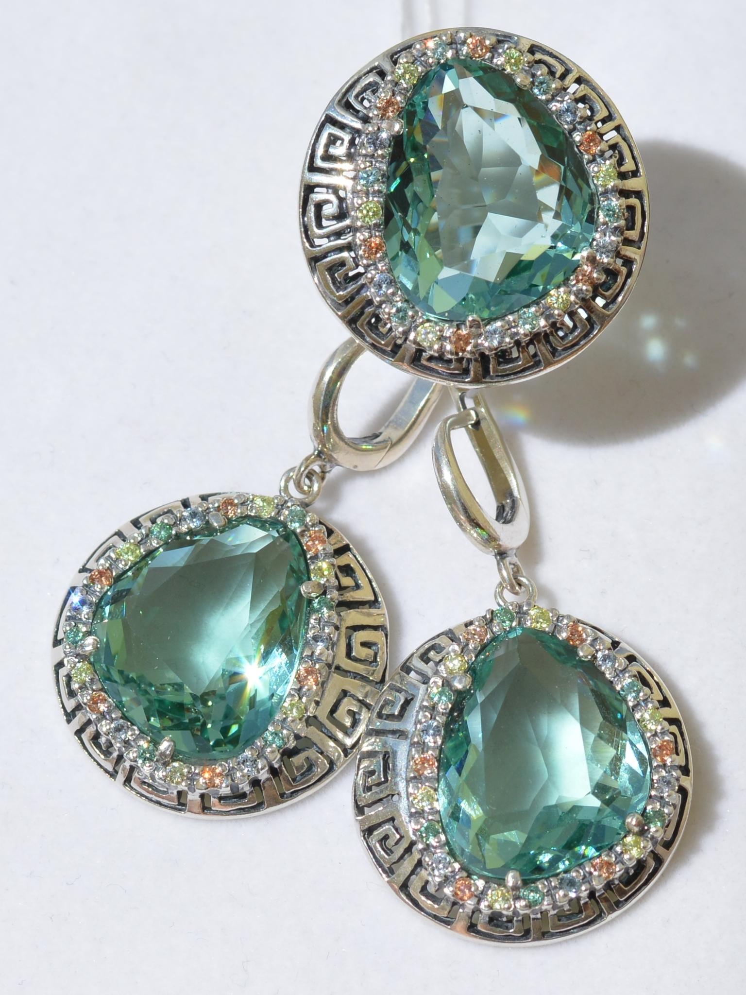 Олимп (кольцо + серьги из серебра)