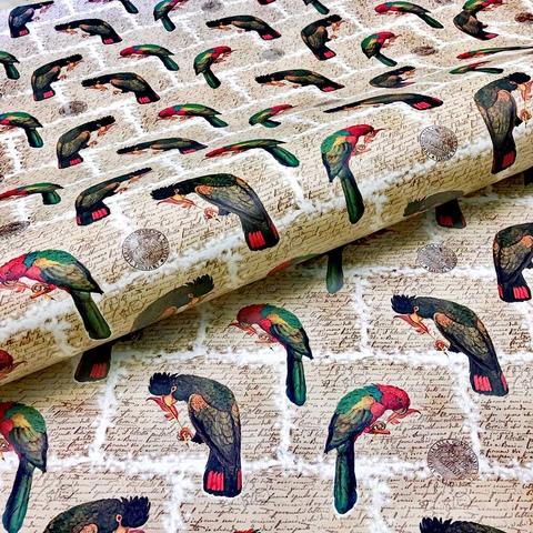 Бумага подарочная декоративная Попугаи