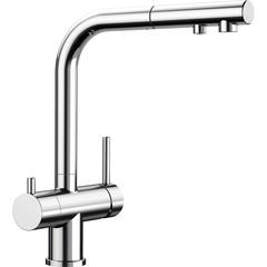 Смеситель для кухни с выдвижным изливом и подводкой для фильтра Blanco Fontas-S II 525198 фото