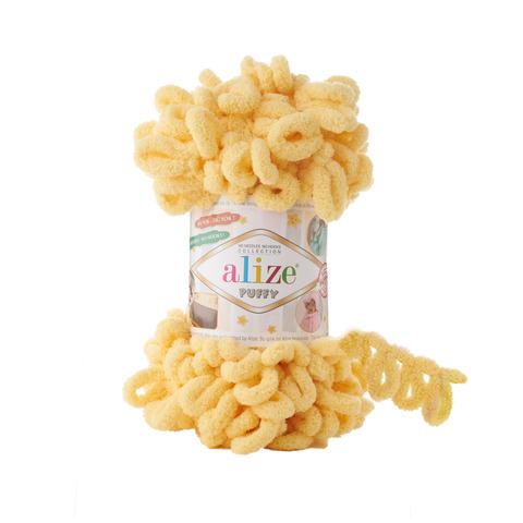 Купить Пряжа Alize Puffy Код цвета 509 Лимонад | Интернет-магазин пряжи «Пряха»