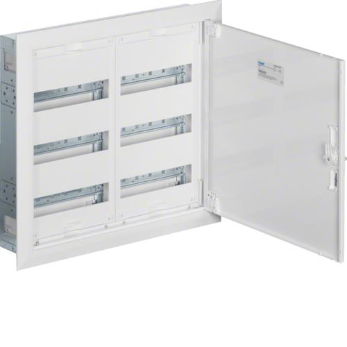 Щиток встраиваемый,секционный,с оснасткой,500x550x110мм (ВхШхГ),одна дверь,RAL9010