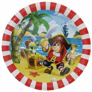 Тарелки бумажные ламинированные Веселый Пират 23см 6шт