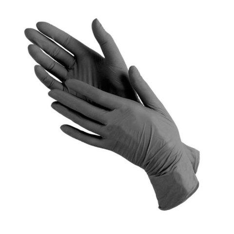 Перчатки нитрил MDC (SB102-227) Bi-Safe М-size черного цвета 100 пар/уп