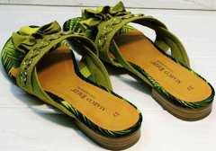 Открытые сандали женские модные Marco Tozzi 2-27104-20 Green.