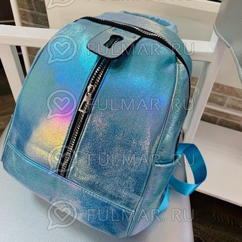 Рюкзак для девочки Голографический с переливами Небесный