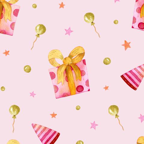 Подарочки на розовом фоне