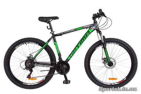 Горный универсальный алюминиевый велосипед OPTIMABIKES Gravity AM DD - черно-зеленый