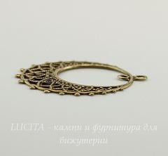 Винтажный декоративный элемент - подвеска круглая