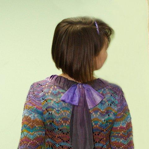 Мастер-класс по обработке горловины шелковым шарфом