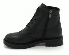 Черные ботинки из натуральной кожи