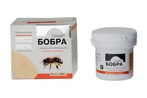 Секрет бобра в капсулах, продукция пчеловодства, №30*0,5 гр. (Сашера Мед)