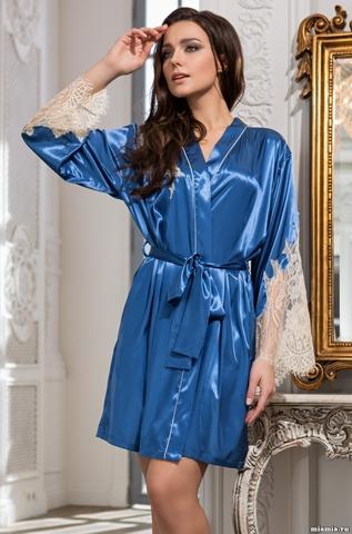 Короткий халат Mia-Amore 3193 CHANTA(70% шелк)