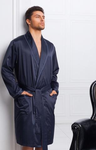 Мужской шелковый халат 60165 Laete