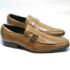 Мужские туфли лоферы Mariner 12211 Light Brown.