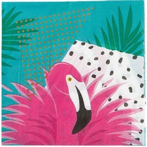 Салфетка Фламинго 33см 12шт