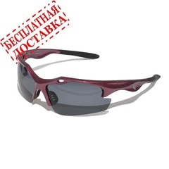 Очки солнцезащитные 2K SB-12049  (бордовый глянец / дымчатые + 2 доп. линзы)