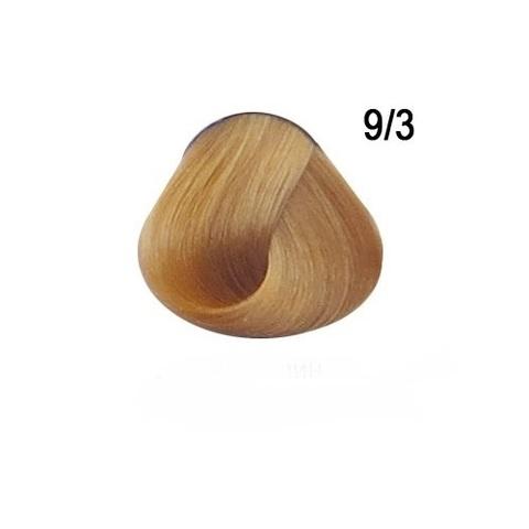 Перманентная крем краска для волос Ollin 9/3 золотистый блондин