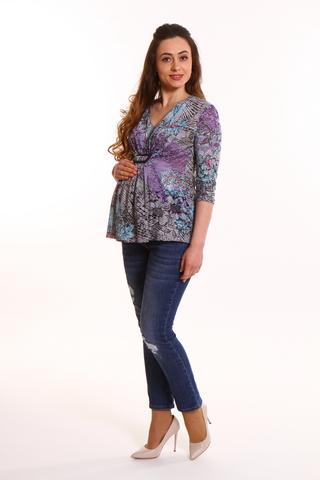 Блузка для беременных 02268 разноцветный