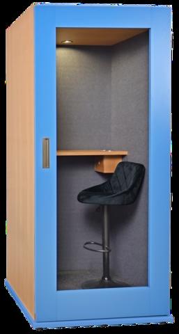 Офисная телефонная будка 25Дб, размеры  110 х 110 х 210  отделка акустический карпет