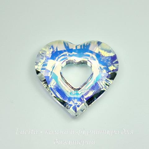 6262 Подвеска Сваровски Miss U Heart Crystal AB (26 мм) ()