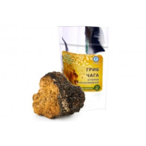 Гриб чага с порией кокосовидной, 100 гр.