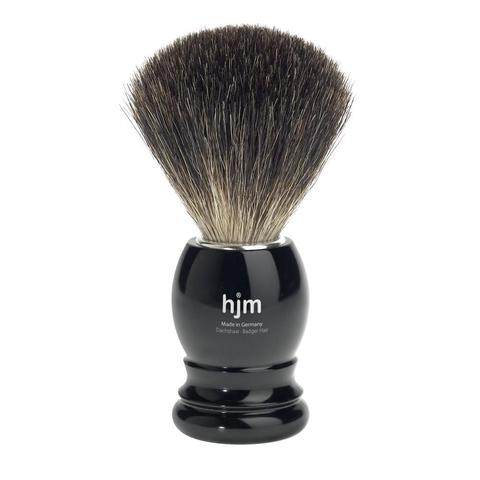 Помазок HJM, натуральный барсучий ворс, черный пластик