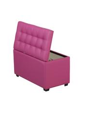 Пф-800-Я Пуфик квадратный (розовый) с ящиком для хранения