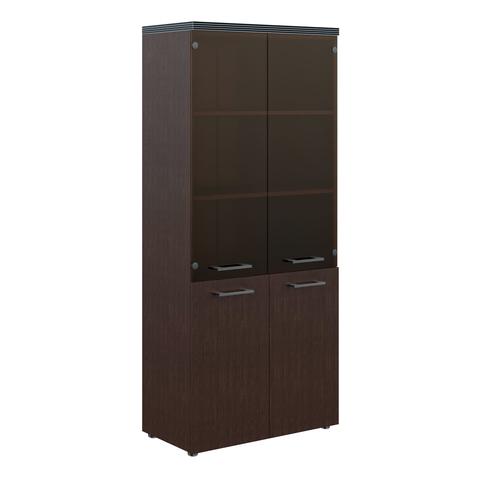 THC 85.2 Шкаф комбинированный со стеклянными дверями и  топом (850х430х1930)