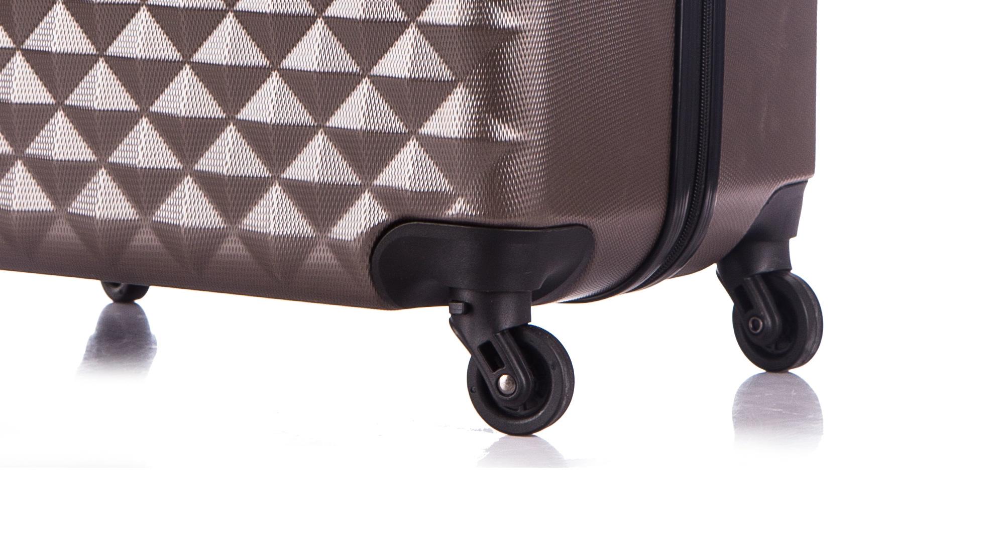 Чемодан со съемными колесами L'case Phatthaya-28 Кофейный (L)