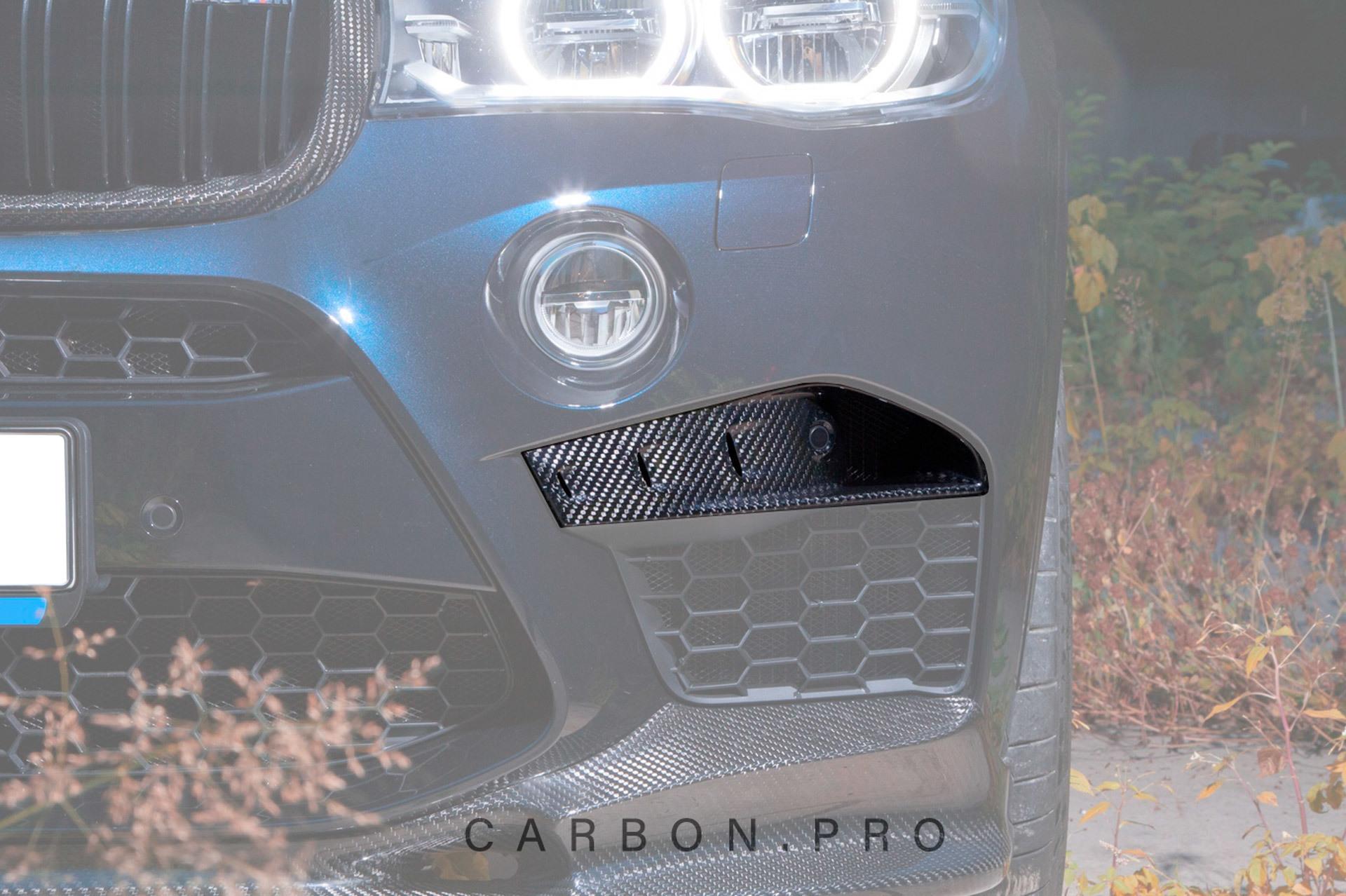 Карбоновые накладки в передний бампер для BMW X5M F85