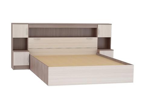 Кровать двуспальная Бася КР-552 160х200 Браво Мебель ясень шимо темный, ясень шимо светлый