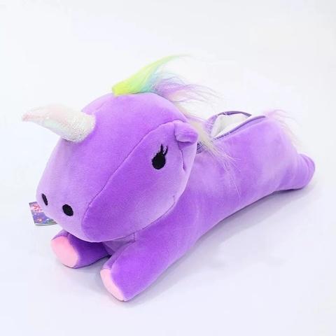 Пенал единорог фиолетовый