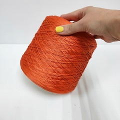 Botto Poala, Шёлк 100%, Морковный (оранжевый), 240 м в 100 г