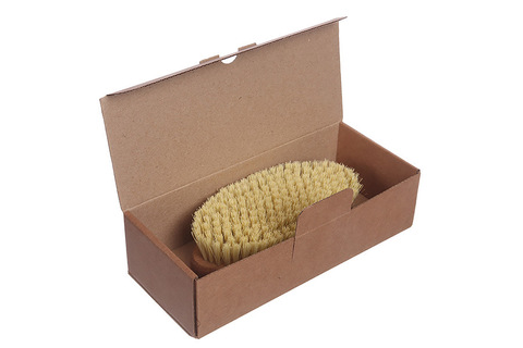 YOZHIK Щётка для сухого массажа (класс L компакт, натуральное волокно тампико)_коробка