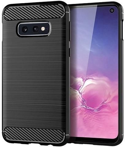 Чехол Samsung Galaxy S10e цвет Black (черный), серия Carbon, Caseport