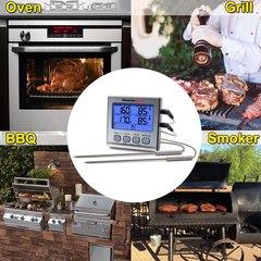 Термометр Двухканальный термометр для мяса Thermopro TP17  с таймером и магнитом