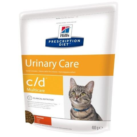 Hill's Диета сухой корм для кошек C/D профилактика МКБ струвиты 400г