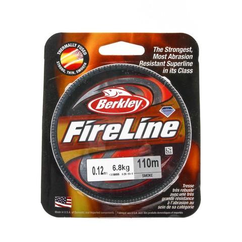 Плетеная леска Berkley Fireline 110M Темносерая 0,12mm Smoke