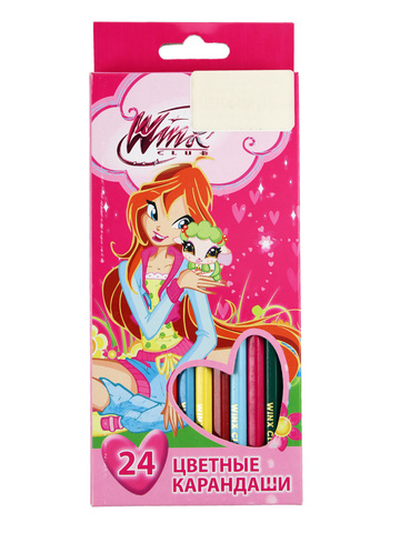 Набор карандашей 24 цвета Winx