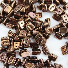 Бусина Trios Треугольник с 2 отверстиями, 6х4 мм, темно-коричневая