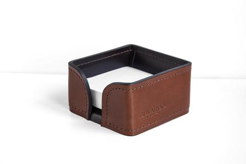 Лоток для блока бумаги BUVARDO PREMIUM из кожи Full Grain Toscana/Cuoietto шоколад