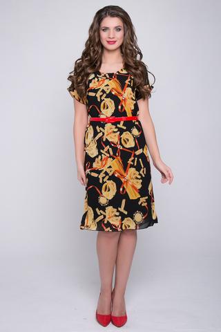 <p>Элегантное платье из воздушного шифона с модным принтом на трикотажном подкладе. Ворот горловины - округлый, рукав - цельнокройный. Ремешок в подарок!(Длины: 46-102см; 48-103см; 50-104см; 52-105см)</p> <p></p>