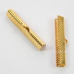 Концевик для лент 35 мм (цвет - золото), 4 штуки