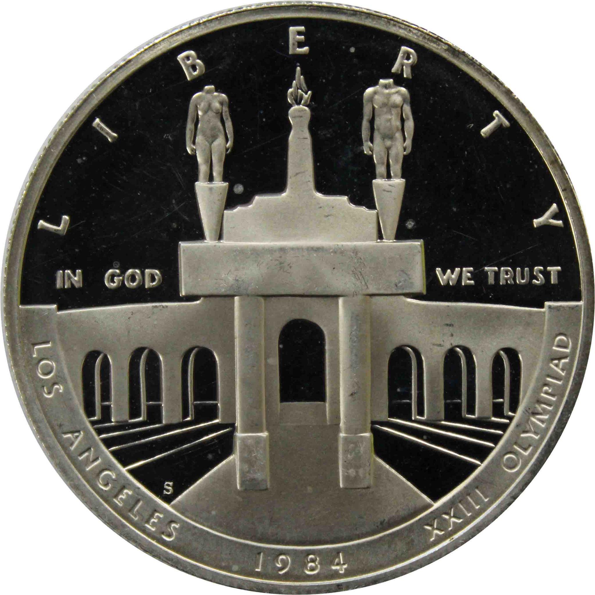 """1 доллар 1984 """"XXIII летние Олимпийские Игры 1984 в Лос-Анджелесе"""""""